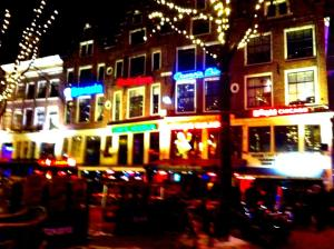 Amsterdam at Night from the boat!