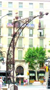Iron Street Lamps and Benches ~ Barcelona
